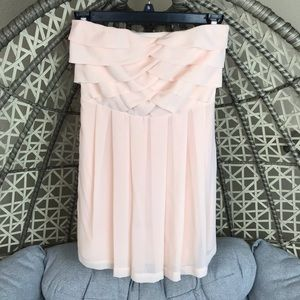 Express Strapless Mini Dress - Nude Pink